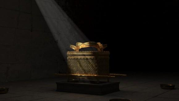 Simulation of the Ark of the Covenant. The film creates a vivid picture of thousands of years of history. Photography: Angenis.