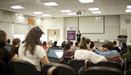 Prof. Yael Niv at her lecture
