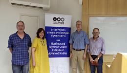 Prof. Scott Ury, Prof. Orit Rozin Prof. Derek Penslar and Prof. Motti Golani