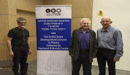 Prof. Eliazer Piasetzky, Prof. Gerald Miller and Prof. Marek Karliner, IAS Director